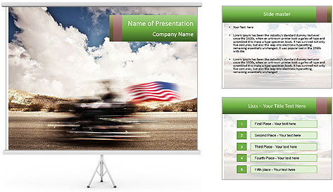 Biker Freedom PowerPoint Template
