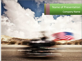 Biker Freedom PowerPoint Template - Slide 1