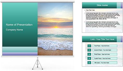 Seaside Sunset PowerPoint Template