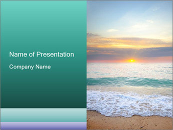 Seaside Sunset PowerPoint Template