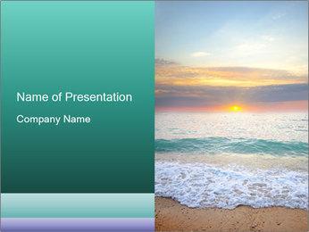 Seaside Sunset PowerPoint Templates - Slide 1