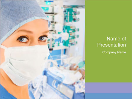 Medical Nurse In Mask PowerPoint Templates