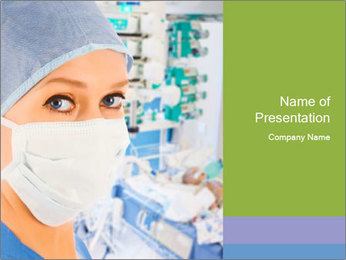 Medical Nurse In Mask PowerPoint Templates - Slide 1