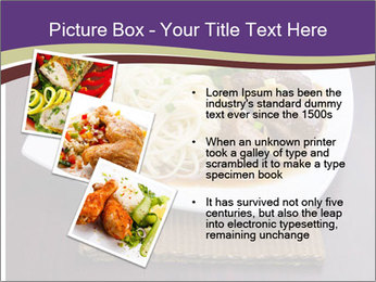 Chinese Noodles Served With Meat PowerPoint Template - Slide 17
