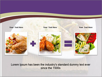 Chinese Noodles Served With Meat PowerPoint Template - Slide 22
