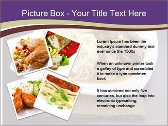 Chinese Noodles Served With Meat PowerPoint Template - Slide 23