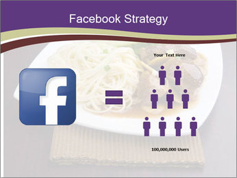 Chinese Noodles Served With Meat PowerPoint Template - Slide 7