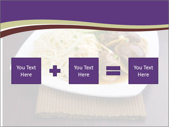 Chinese Noodles Served With Meat PowerPoint Template - Slide 95