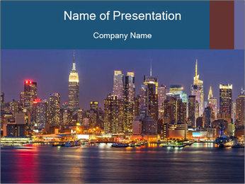 New York PowerPoint Template - Slide 1