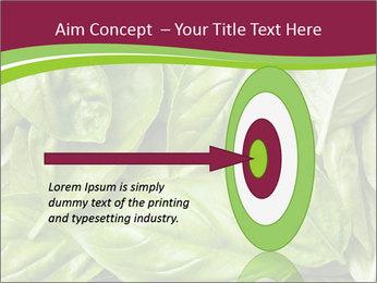 The fresh basil leaves PowerPoint Template - Slide 83