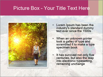 Cute girl hiking in the alps PowerPoint Template - Slide 13