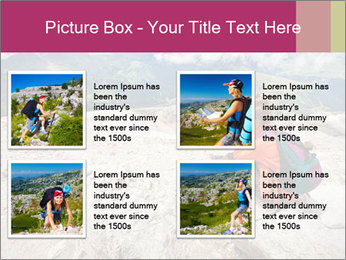 Cute girl hiking in the alps PowerPoint Template - Slide 14
