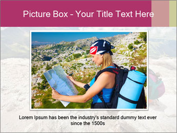 Cute girl hiking in the alps PowerPoint Template - Slide 15