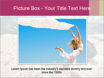 Cute girl hiking in the alps PowerPoint Template - Slide 16
