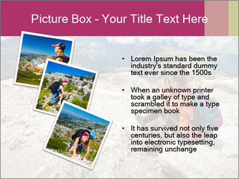 Cute girl hiking in the alps PowerPoint Template - Slide 17