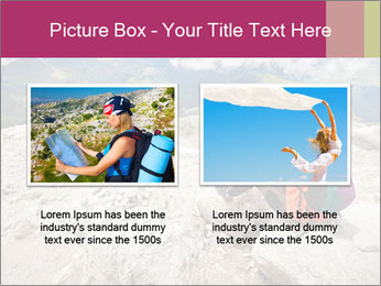 Cute girl hiking in the alps PowerPoint Template - Slide 18