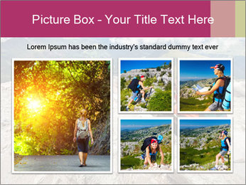 Cute girl hiking in the alps PowerPoint Template - Slide 19