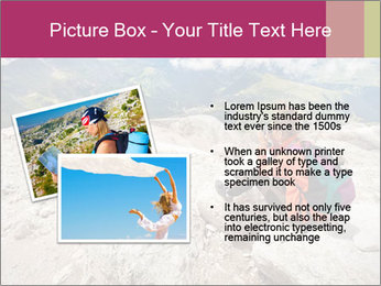 Cute girl hiking in the alps PowerPoint Template - Slide 20