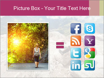 Cute girl hiking in the alps PowerPoint Template - Slide 21