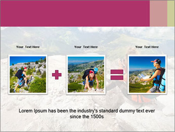 Cute girl hiking in the alps PowerPoint Template - Slide 22