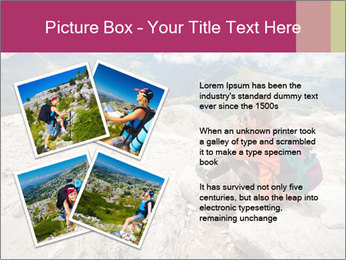 Cute girl hiking in the alps PowerPoint Template - Slide 23