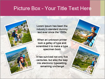 Cute girl hiking in the alps PowerPoint Template - Slide 24