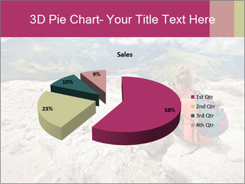 Cute girl hiking in the alps PowerPoint Template - Slide 35