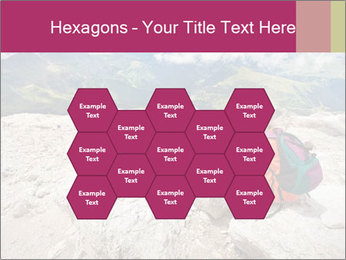 Cute girl hiking in the alps PowerPoint Template - Slide 44