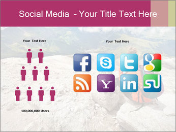 Cute girl hiking in the alps PowerPoint Template - Slide 5