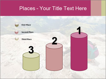 Cute girl hiking in the alps PowerPoint Template - Slide 65