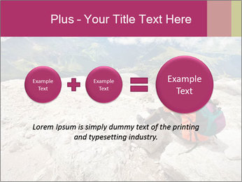 Cute girl hiking in the alps PowerPoint Template - Slide 75