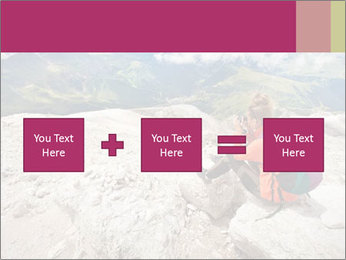 Cute girl hiking in the alps PowerPoint Template - Slide 95