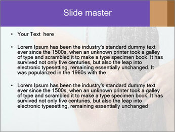 Woman washing long hair PowerPoint Templates - Slide 2
