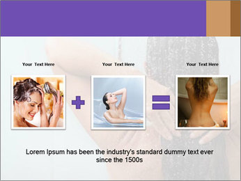 Woman washing long hair PowerPoint Template - Slide 22