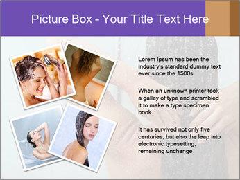 Woman washing long hair PowerPoint Templates - Slide 23