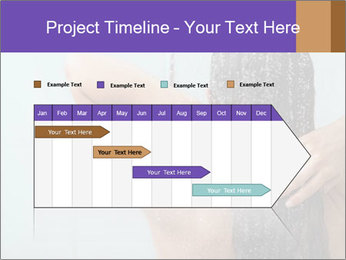 Woman washing long hair PowerPoint Templates - Slide 25