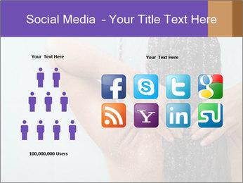 Woman washing long hair PowerPoint Templates - Slide 5