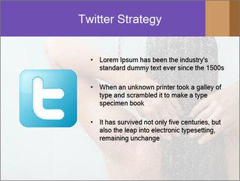 Woman washing long hair PowerPoint Templates - Slide 9