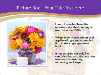 Beautiful bouquet of bright wildflowers PowerPoint Template - Slide 13