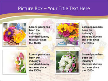 Beautiful bouquet of bright wildflowers PowerPoint Template - Slide 14