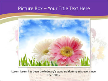 Beautiful bouquet of bright wildflowers PowerPoint Template - Slide 15