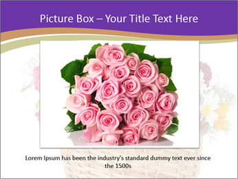 Beautiful bouquet of bright wildflowers PowerPoint Template - Slide 16