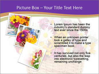 Beautiful bouquet of bright wildflowers PowerPoint Template - Slide 17
