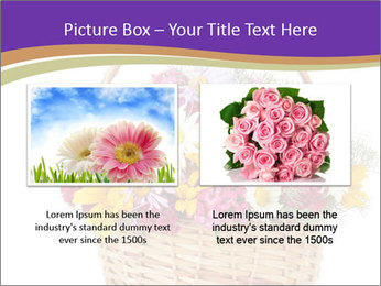 Beautiful bouquet of bright wildflowers PowerPoint Template - Slide 18