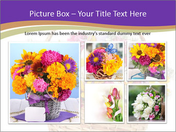 Beautiful bouquet of bright wildflowers PowerPoint Template - Slide 19