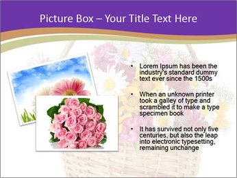 Beautiful bouquet of bright wildflowers PowerPoint Template - Slide 20