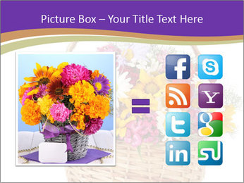 Beautiful bouquet of bright wildflowers PowerPoint Template - Slide 21