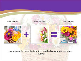 Beautiful bouquet of bright wildflowers PowerPoint Template - Slide 22