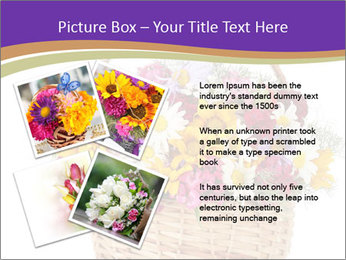 Beautiful bouquet of bright wildflowers PowerPoint Template - Slide 23