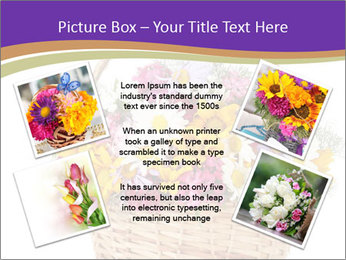 Beautiful bouquet of bright wildflowers PowerPoint Template - Slide 24